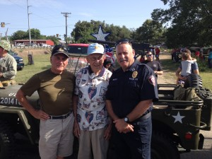 My brother Phil, Doolittle Raider Dick Cole and me at the Comfort, TX, 4th of July parade.